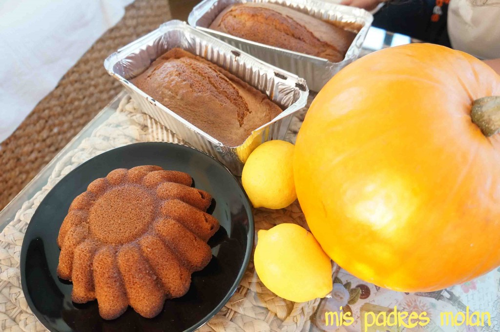 bizcocho de calabaza halloween limon receta