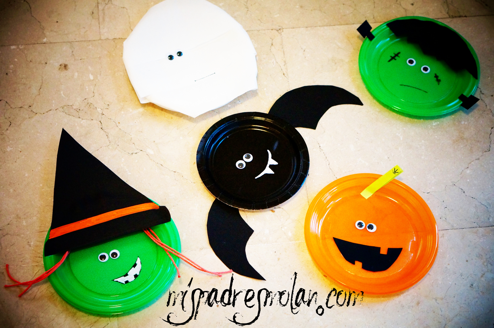 halloween DIY platos