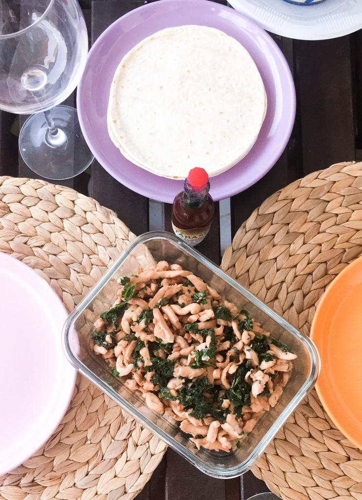 pollo plancha y kale